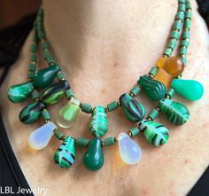 Unique old Mali wedding bead necklace by LBLJewelry on Etsy
