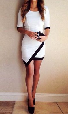 Asymmetrical Wrap Style Dress at Lookbook Store