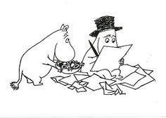Moominpappa writing his memoirs