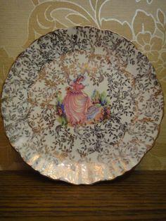 "Vintage Crinoline Lady ""Pinkie"" bone china cake Off. via Etsy. China Plates, Plates And Bowls, Cake Plates, Vintage China, Vintage Teacups, Teapot Cookies, Tea Tray, Sale 50, Porcelain Ceramics"