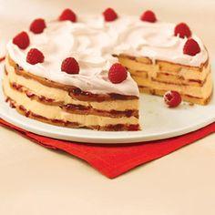 white chocolate-raspberry trifle cake