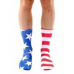 Living Royal Socks Stars & Stripes Crew Socks in Red, White, and Blue