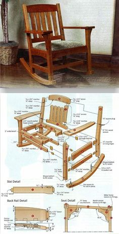 Arts & Crafts Rocking Chair Plan - Furniture Plans and Projects | WoodArchivist.com