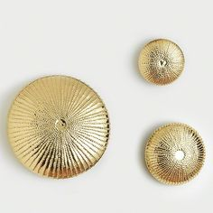 Global Views Sea Urchin Wall Sculpture-Gold-Sm - Global Views 9-92187