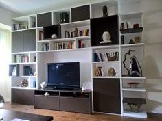 LIBRERIA DOPPIA PROFONDITA' Bookcase, Shelves, Home Decor, Home, Shelving, Decoration Home, Room Decor, Book Shelves, Shelving Units