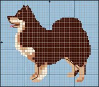 Finnish Lapphund Dog (They Herd Reindeer!) Free Cross Stitch / Knitting Pattern