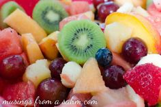 rainbow fruit salad for snack