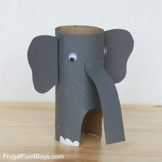 Paper Roll Animals - Frugal Fun For Boys and Girls Kids Crafts, Summer Crafts, Cute Crafts, Toddler Crafts, Preschool Crafts, Paper Towel Crafts, Toilet Paper Roll Crafts, Cardboard Crafts, Animal Projects