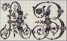 Милые сердцу штучки: Вышивка крестом: Алфавит из французского альбома XIX века (2)