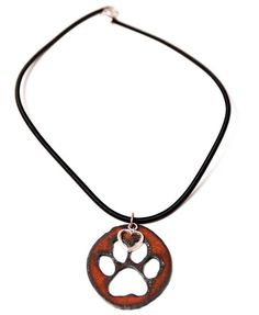 Dog Rescue Jewelry // Paw Print Necklace // Rustic Metal cutout // Dog ID Tag // Dog Lover Gift // Minimalist Jewelry on Etsy, $15.00