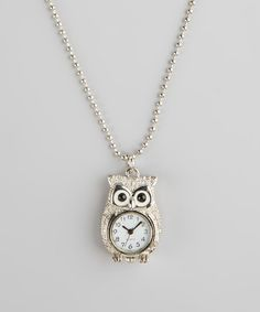 Loving this Owl Watch Pendant Necklace on #zulily! #zulilyfinds