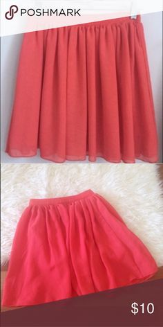 American apparel chiffon skirt coral Chiffon American apparel skirt in coral color. Worn a few time but in excellent condition. Comes from a pet and smoke free household. American Apparel Skirts Circle & Skater