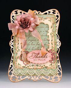 Spellbinder Hinged Fancy Card