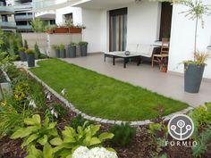 03. ogrodek przy mieszkaniu Stepping Stones, Terrace, New Homes, Patio, Garden, Outdoor Decor, Plants, Inspiration, Home Decor