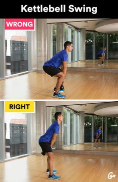 Russian Kettlebell Swing http://greatist.com/move/basic-exercises-moves-youre-doing-wrong-and-how-to-fix-them #greatist