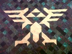 Legend of Zelda Triforce Quilt by EricTheQuilter on Etsy, $115.00