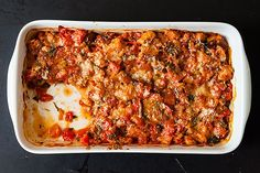 """""""When you're not packing your BLTs with slabs of the best ones, or spooning brown butter over them, Sarah Leah Chase has a good place to stick them: Scalloped Tomatoes."""" Read more: Sarah Leah Chase's Scalloped Tomatoes on Side Dish Recipes, Vegetable Recipes, Pasta Recipes, Cooking Recipes, Healthy Recipes, Food52 Recipes, Entree Recipes, Vegetarian Cooking, Healthy Cooking"""
