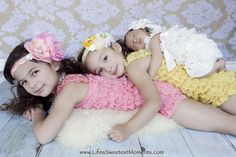 Newborn photography.  Great newborn posing idea with older siblings.