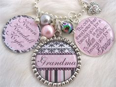 MOTHER GIFT personalized Bottle cap Grandmother Jewelry Inspirational Quote Keychain,Children's Names Necklace, Mom, Wedding, Shabby Chic. $29.50, via Etsy.