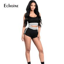 8282c0b2ff 2019 New Fashion Women Sets Casual 2 piece set women Cotton Girls Tops and  Shorts Clothing