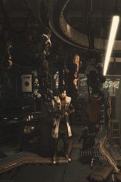 tumblr_p08e8aGHei1r8l821o1_540.gif (540×810) Deus Ex Universe, Deus Ex Mankind Divided, Shadowrun, Fantasy Creatures, Cyberpunk, Video Games, Sci Fi, Tumblr, Drawing Ideas