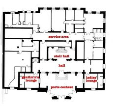 the Carolands. ground floor -- Looking back, i really should have used a different font when i annotated these plans....