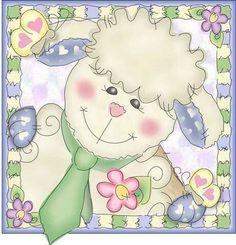 Easter Drawings, Cute Drawings, Cute Sheep, Cute Bunny, Spring Arts And Crafts, Easter Illustration, Easter Lamb, Sheep And Lamb, Box Patterns