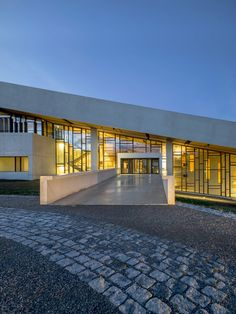 """On the level of the foyer, a large multipurpose hall described by museum director Jan Skamby Madsen as """"the biggest of its kind in northern Europe"""" can be used to host temporary exhibitions and conferences or other events."""