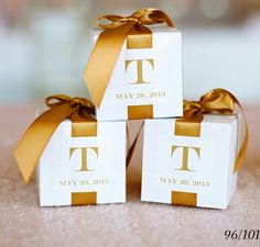 FAVORS  A perennial favor choice, the chocolate truffle looks fabulous in individual boxes gift wrapped in your wedding colors and finished off with a mini bow.