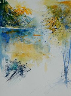 "Saatchi Art Artist: Pol Ledent; Watercolor 2014 Painting ""watercolor 013032"""
