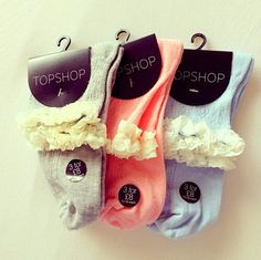 Ruffle socks are too cute and look so darn good with ankle boots! NEED THESE