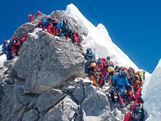 National Geographic and The North Face in Everest Expedition, saw how the mountain has become an icon for everything that's wrong with climbing. Monte Everest, National Geographic, Mountain Climbing, Rock Climbing, Alpine Climbing, Nepal, Climbing Everest, Himalaya, Tourist Trap