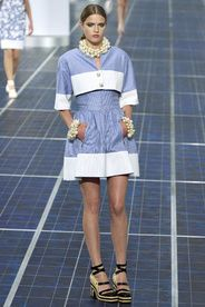 Chanel Spring/Summer 2013|40!!! Bebe'!!! Pretty Blue and White!!!