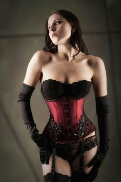 Red and Black lace Corset dreams.