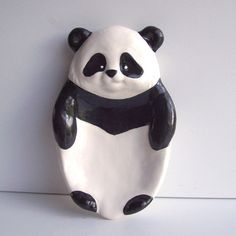 This handmade panda soap dish. | 23 Unexpected Things You Didn't Know Your Bathroom Needed
