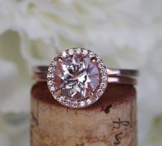 Morganite Ring Morganite Engagement Ring and Diamond by IceCage