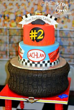 GreyGrey Designs: {My Parties} Lachlan's Two-lladega Nascar Inspired Race Car Party!The sports cars sport cars cars cars vs lamborghini Nascar Cake, Nascar Party, Race Car Party, Car Themed Parties, Cars Birthday Parties, Fun Party Themes, Party Ideas, Fun Ideas, Lightning Mcqueen Party