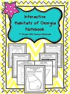 The Interactive Habitats of Georgia Notebook guides your students through your Georgia Habitat Unit! It allows your students to stay organized while focusing on the key concepts aligned to the third grade Georgia Performance Science Standards.   The notebook is made of ten pages with an additional seven interactive template pages to complete the activities!