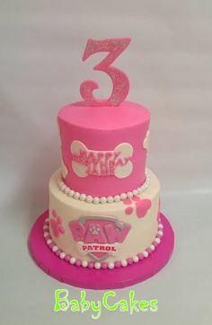 Paw Patrol themed birthday cake.