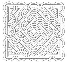 Free coloring page coloring-op-art-jean-larcher-15. An Op Art drawing to color ... easy and relaxing
