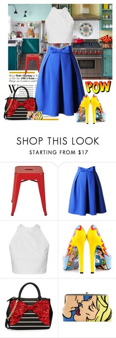"""""""A Bow Thing"""" by joyfulnoise1052 ❤ liked on Polyvore featuring Office Star, TaylorSays, Betsey Johnson and Sarah's Bag"""