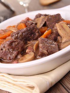 Boeuf mijoté façon bourguignon - Recette de cuisine Marmiton : une recette
