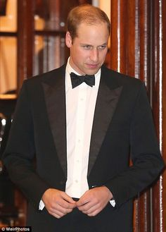 Dapper: The Duke of Cambridge looked dapper in dinner dress for the Royal Variety Performance at the London Palladium on November 13, 2014.