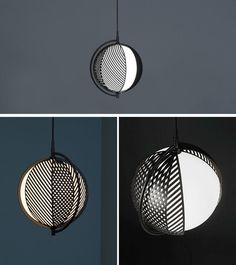 Italian designer Antonio Facco has designed Mondo, a new lighting collection that has overlapping patterns that can change lighting effect. #PendantLight #Lighting #Design