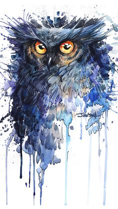 Owl, art, spots, bird wallpaper - My best shares Inspiration Art, Art Inspo, Owl Wallpaper Iphone, Bird Wallpaper, Wallpaper Lockscreen, Cellphone Wallpaper, Vogel Illustration, Tableau Pop Art, Owl Watercolor