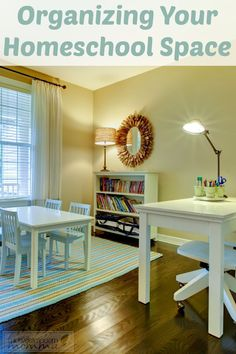Whether you have a dedicated school room or just stash materials around the house, these organizing tips for your homeschooling space are sure to come in handy!