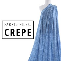 In this installment of the Fabric Files we're talking all about crepe fabrics. Find out how to sew with, care for and shop for this fine apparel fabric! | Indiesew.com