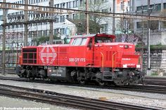 Am 843 Vossloh G BB Type: Heavy Dieselhydraulic Shunitng Engine Producer: Vossloh Locomotives GmbH Build date: Quantity: 79 Number Phot. SBB Am 843 Choo Choo Train, Swiss Railways, Diesel Locomotive, Model Trains, 19th Century, Track, Real Estate, Deviantart, Building