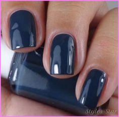 Nail color blue dress - http://stylesstar.com/nail-color-blue-dress.html