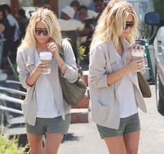 good hair, good outfit, good sunglasses, and starbucks...how cute is she